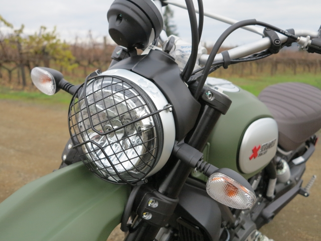 Nice looking headlight protection - you can purchase it as an accessory for the other versions
