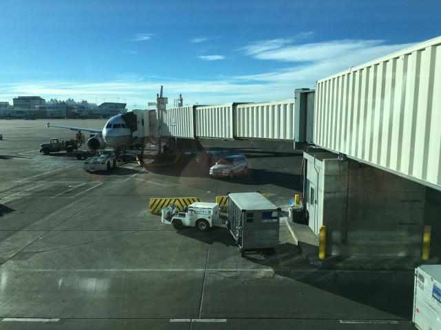 United's Mercedes GL SUV at the Tarmac, Denver airport