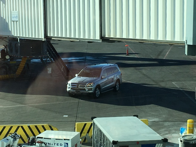 United's Mercedes GL in Denver, January 27th, 2015