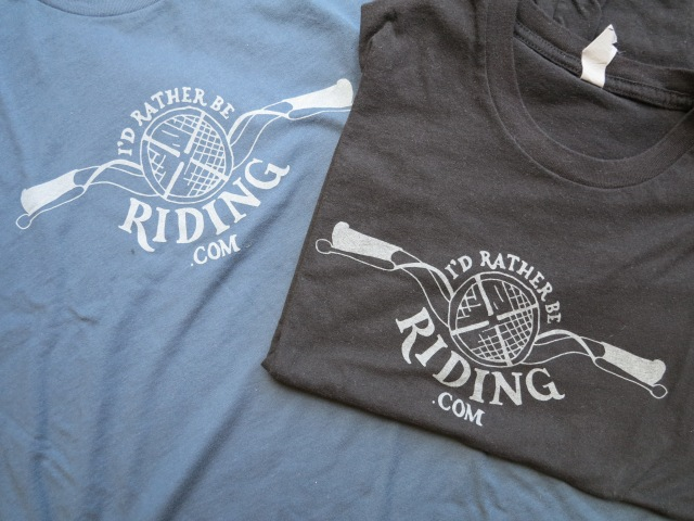 I'd Rather be Riding logo and T-shirts