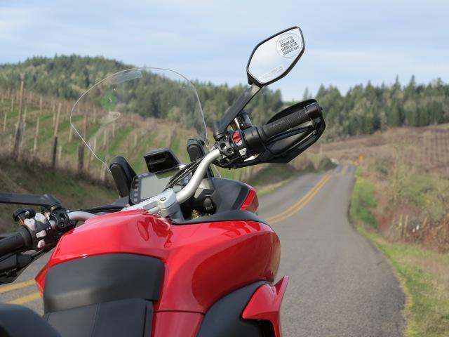Taller, wider adjustable windscreen