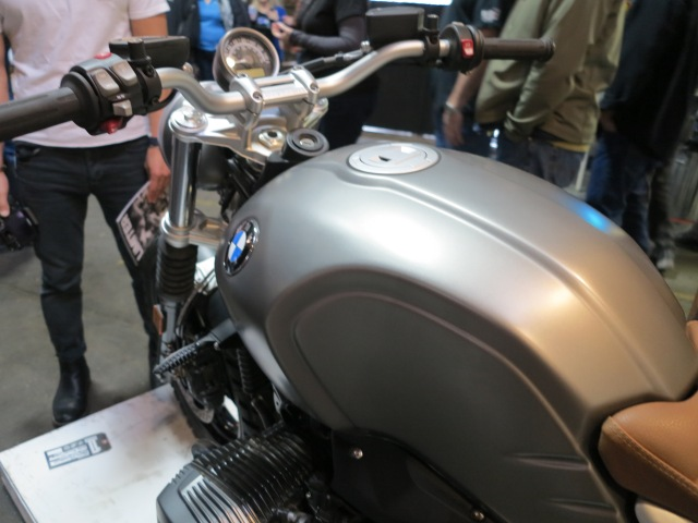 Steel tank on the Scrambler, as opposed to Aluminum in the R nineT