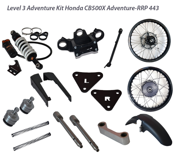 Rally Raid Products Level 3 Kit for the CB500X available at Giant Loop