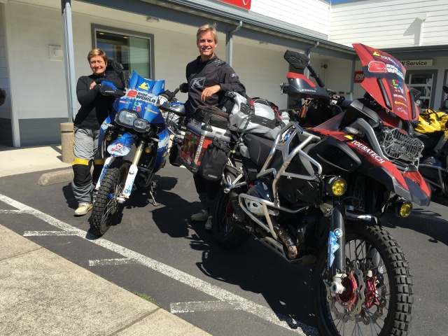 a chance encounter with Lisa and Simon at the BMW shop
