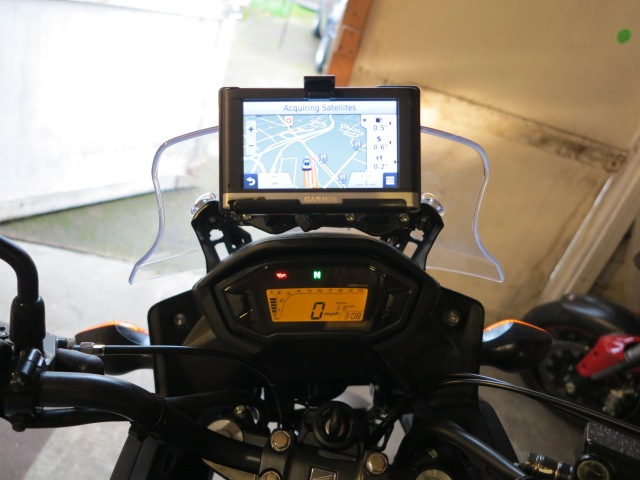GPS mounted (this GPS is a car GPS, a cheap Nuvi something or another