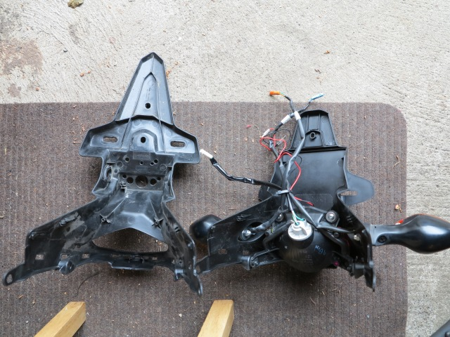 OEM on the left, R & G on the right, ready to be installed
