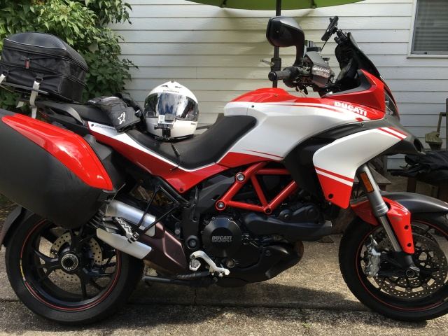 2013 Multistrada Pikes Peak - All packed and ready to go!