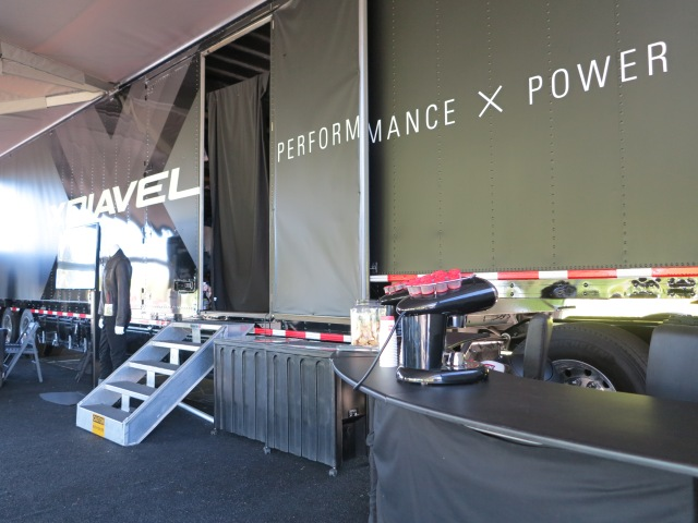The XDiavel promotion tour, truck with motorcycles and merchandise was at Portland International Raceway on May 2016