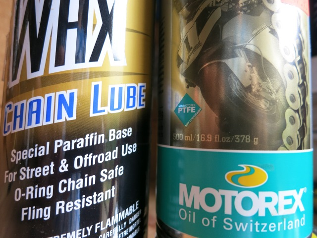 I'm keeping these chain lubes away from my motorcycles for a while