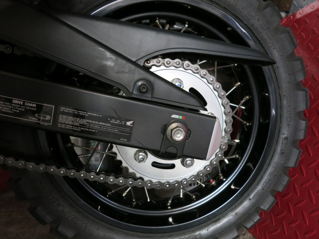 You can't even tell it is lubed. The chain on the CB500X.