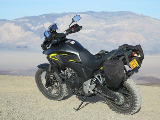 The CB500X Adventure (Rally Raid Level 3 Kit) in the Death Valley