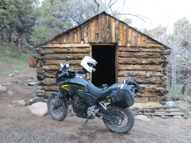 Te bike made it to the cabin on Hunter Mountain Rd.