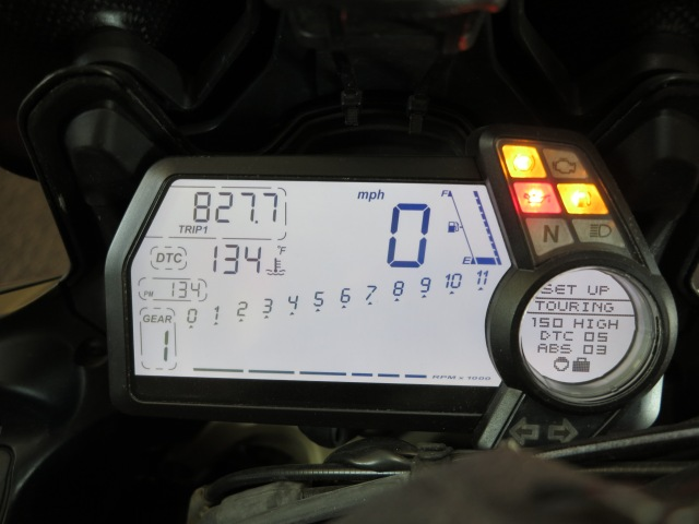 2010-14 Multistrada Monochrome displays