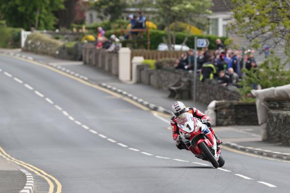 John McGuinness at the TT Race (Independent)