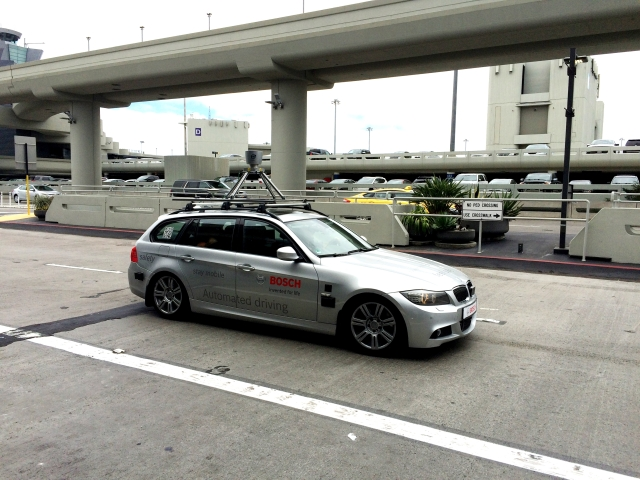 BMW with Bosh Automated system, spotted at San Francisco airport in July 2015