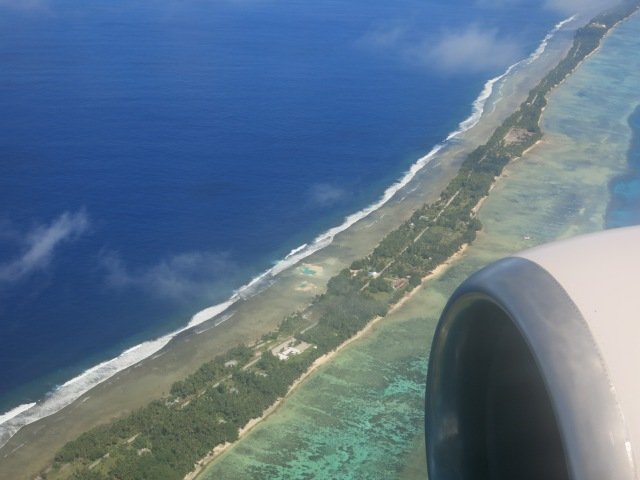Landing in Majuro atoll, Marshall Islands, July 2015
