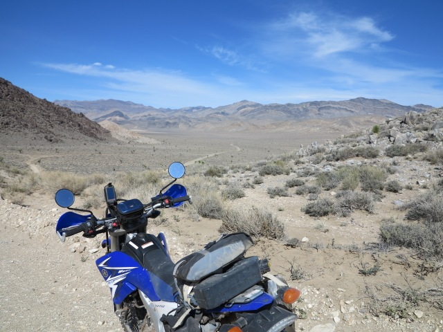 Garmin Oregon 450 on my WR250R, Death Valley, March 2016