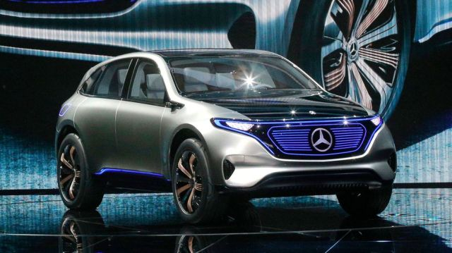 Mercedes Benz EQ Concept Car, 2016 Paris Auto Show