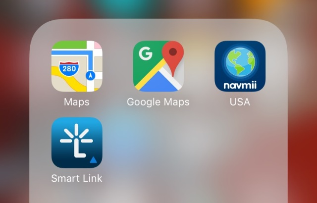 Just a sample of the many navigation apps available for smart phones