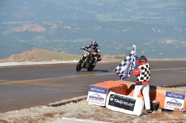 Victory Empulse, Pikes Peak 2016. Second fastest Motorcycle overall.