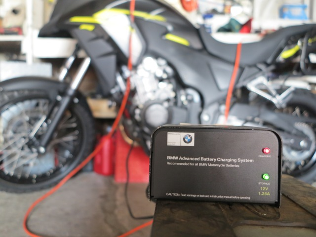 Battery tender, keeping all bikes charged!
