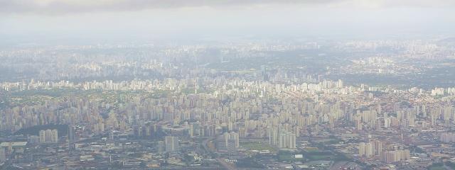 Landing at Guarulhos Airport, São Paulo, Brazil.