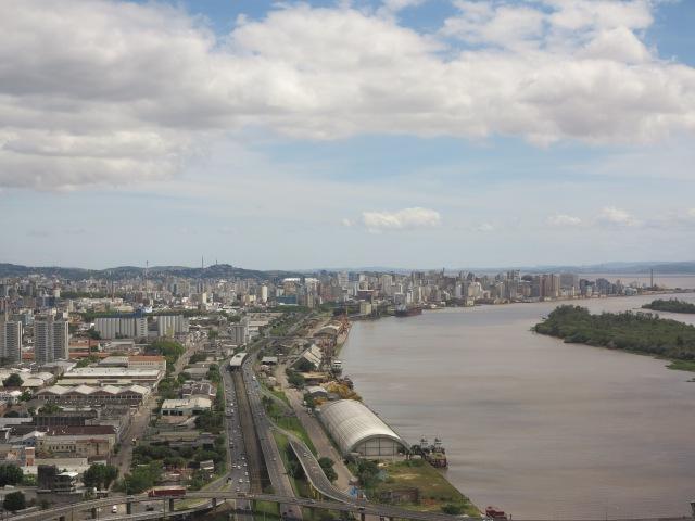 Landing at Salgado Filho Airport, in Porto Alegre.